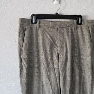 H&M Gray Prince of Wales Plaid Pants 34 GUC